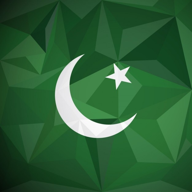 Pakistan background geometrica Vettore gratuito