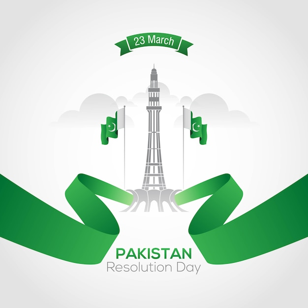 Pakistan resolution day Vettore Premium