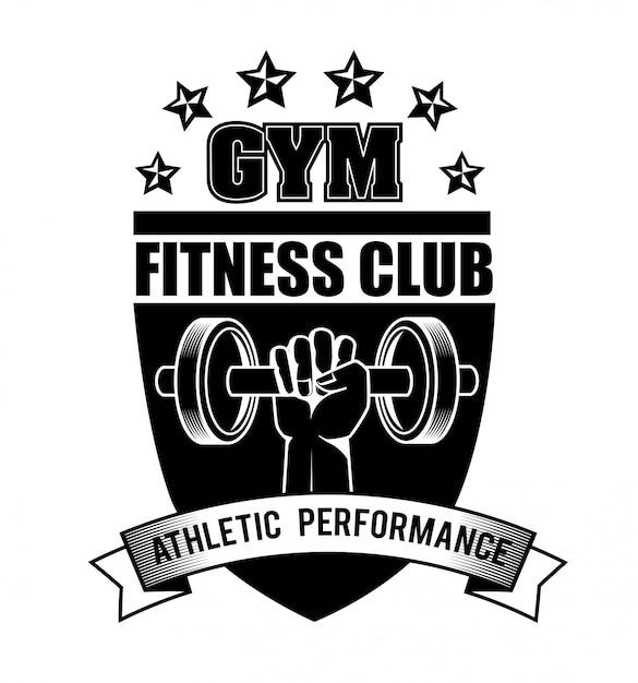 Palestra e fitness lifestyle design Vettore Premium