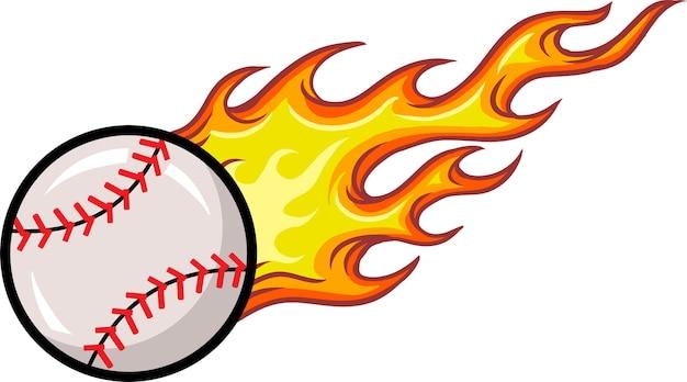 Palla da baseball Vettore Premium