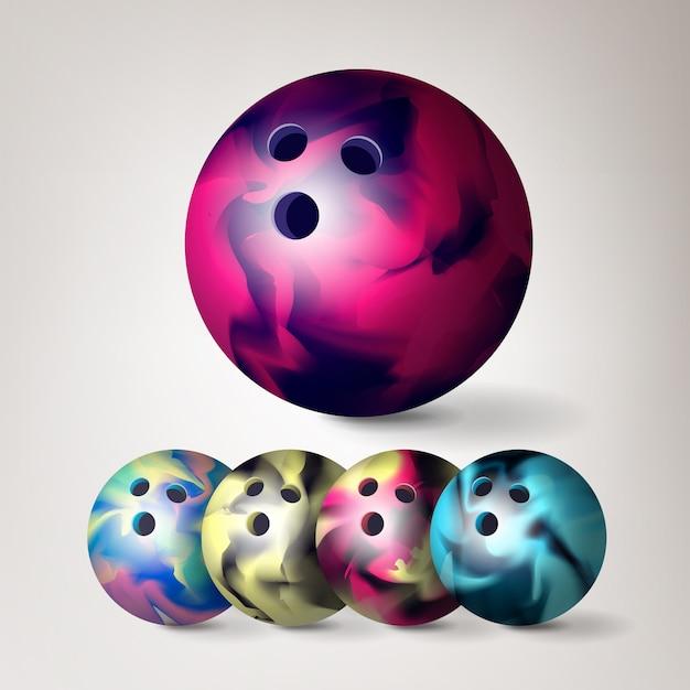 Palla da bowling Vettore Premium