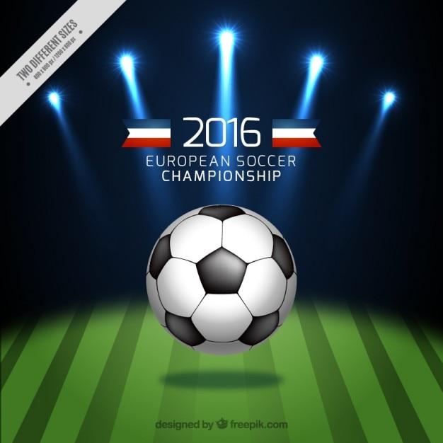 Palla in background campo di calcio Vettore gratuito