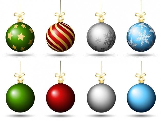 christmas baubles templates to colour - palline di natale colorate pacco scaricare vettori gratis