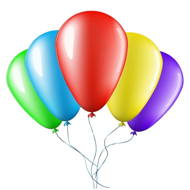 Palloncini colorati Vettore Premium