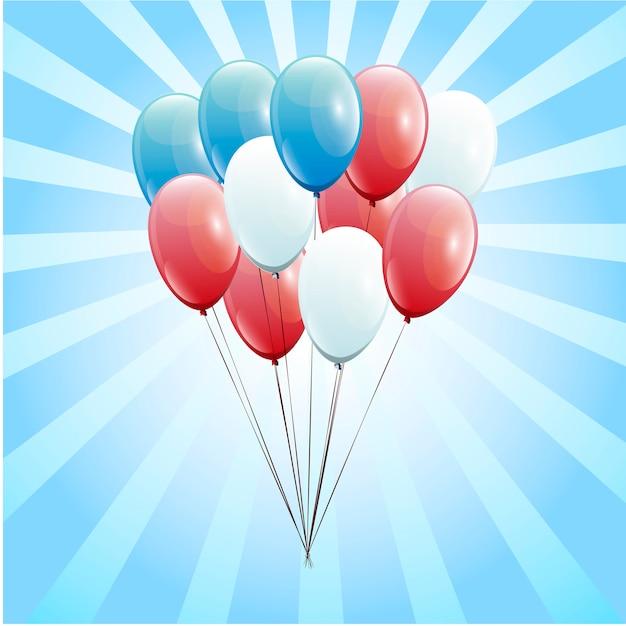 Palloncini festosi vera trasparenza Vettore Premium