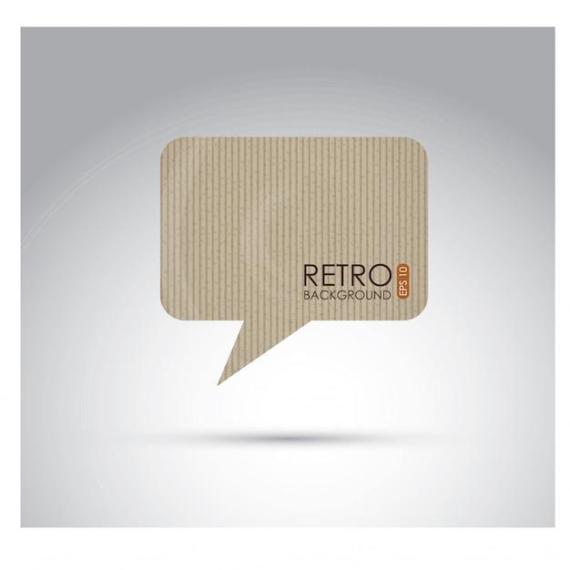Palloncino di cartone Vettore Premium