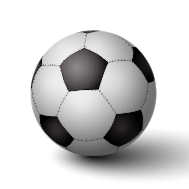 Pallone da calcio realistico per icona di calcio isolato Vettore gratuito