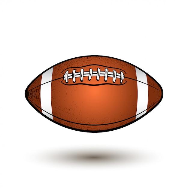 Pallone da rugby con strisce. Vettore Premium