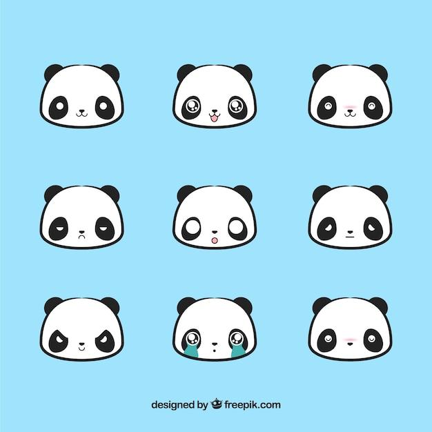 Panda sorriso simpatico Vettore gratuito