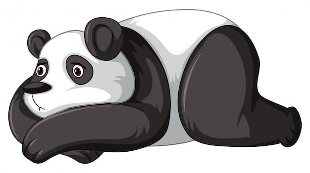Panda triste Vettore Premium