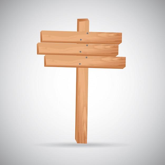 Pannello di legno Vettore gratuito