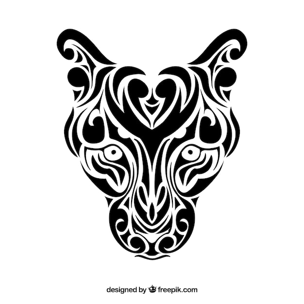 Panthera tribal vector Vettore gratuito