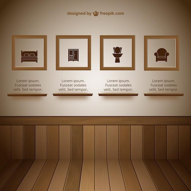 Parete con sala per esposizioni cornici scaricare for Parete sala