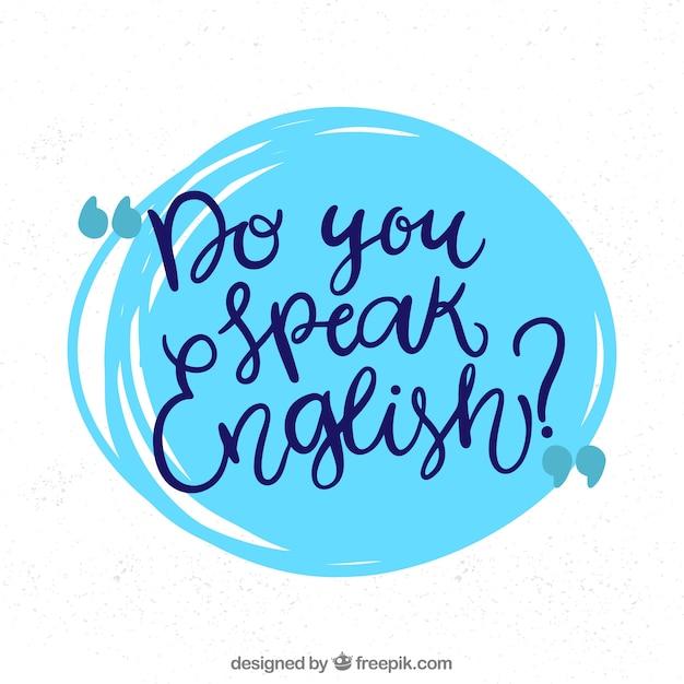 Parli inglese? Vettore gratuito