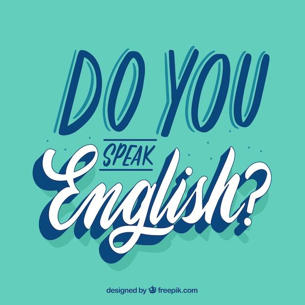 Parli la domanda inglese con un design piatto Vettore gratuito