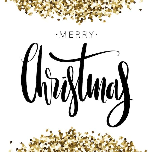 Parole Di Buon Natale.Parole Di Buon Natale Su Sfondo Con Glitter Dorati