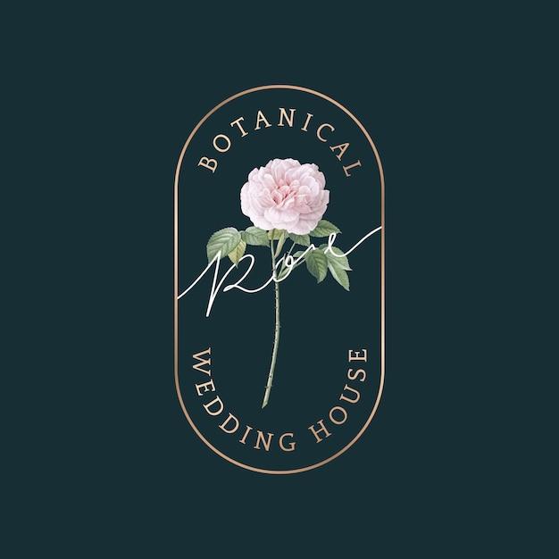 Partecipazione di nozze botanica Vettore gratuito