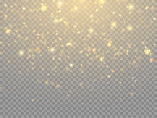 Particelle glitter luci bokeh Vettore Premium