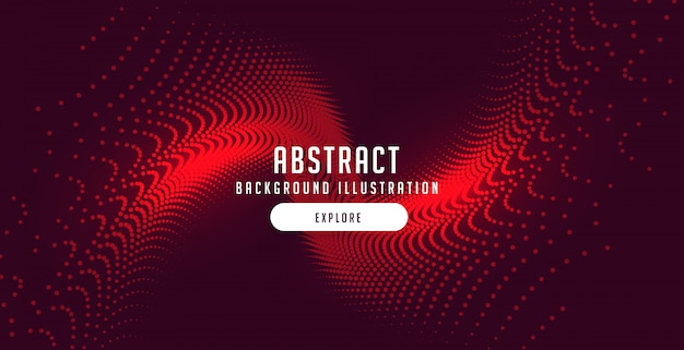 Particelle rosse scoppiano sfondo astratto movimento Vettore gratuito