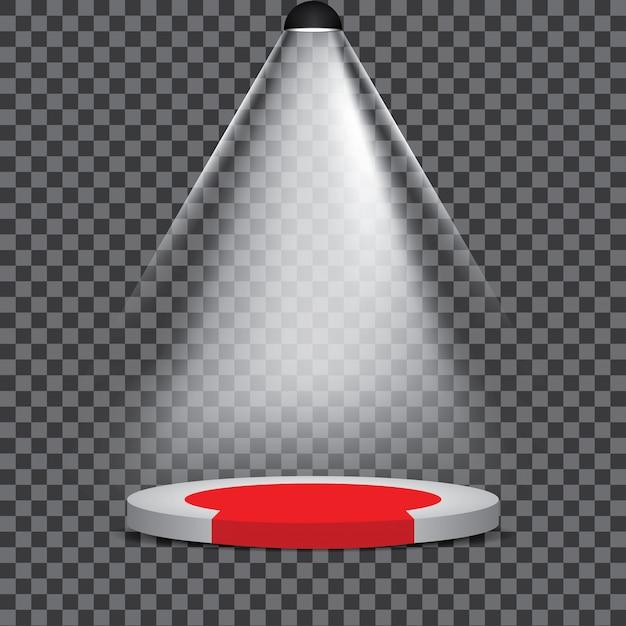 Partito illuminato del riflettore di scena del podio della fase Vettore Premium