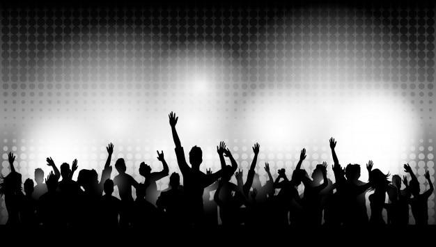 Party persone nel club Vettore Premium