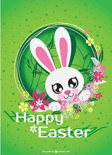 Pasqua carta cartone animato coniglio scaricare vettori