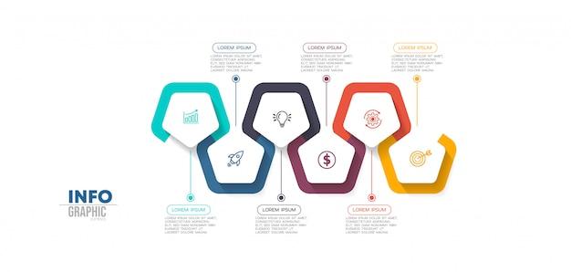 Passaggi degli elementi infografici Vettore Premium