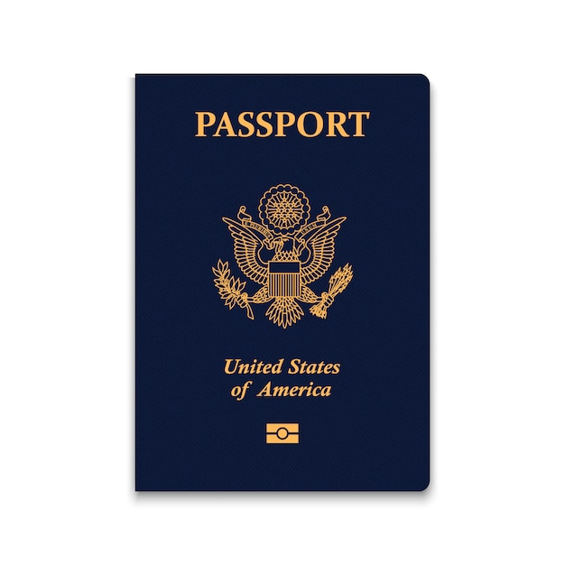 Passaporto degli stati uniti Vettore Premium