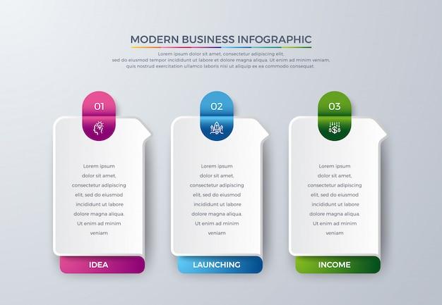 Passi infografica timeline Vettore Premium