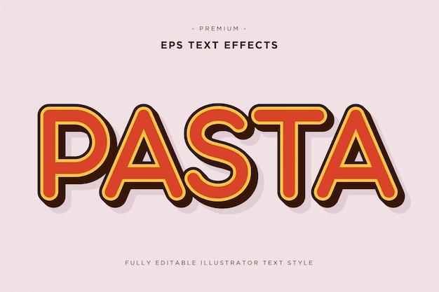 Pasta effetto testo 3d Vettore Premium
