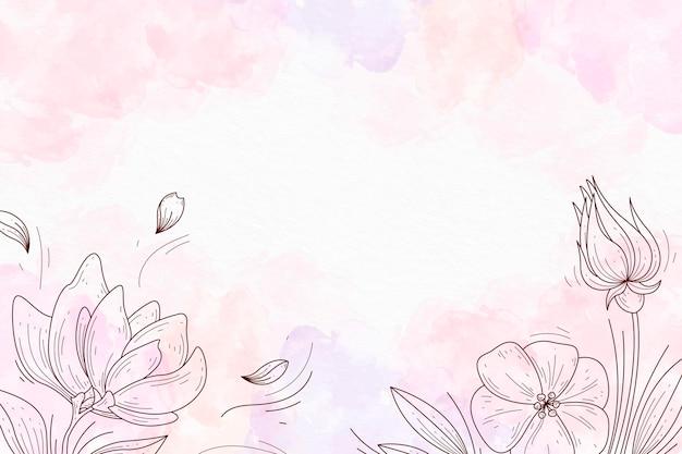 Pastello in polvere con elementi disegnati a mano carta da parati Vettore gratuito