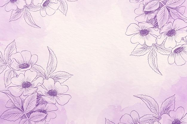Pastello in polvere con sfondo di elementi disegnati a mano Vettore gratuito