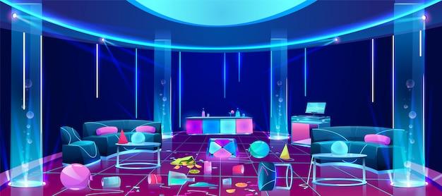 Pasticcio in discoteca dopo l'illustrazione del partito Vettore gratuito