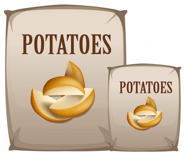 Patate in borsa Vettore Premium