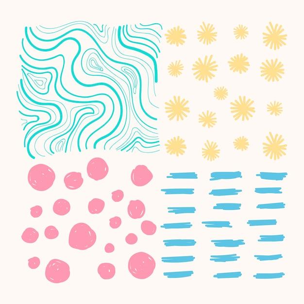Pattern di sfondo misti Vettore gratuito