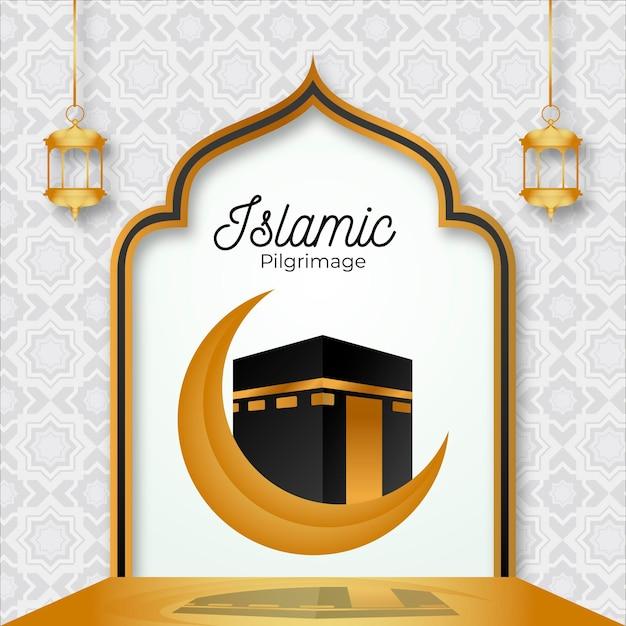 Pellegrinaggio islamico Vettore gratuito