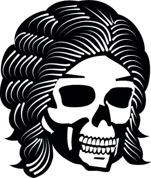 Peloso cranio cartone animato vettore icona scaricare