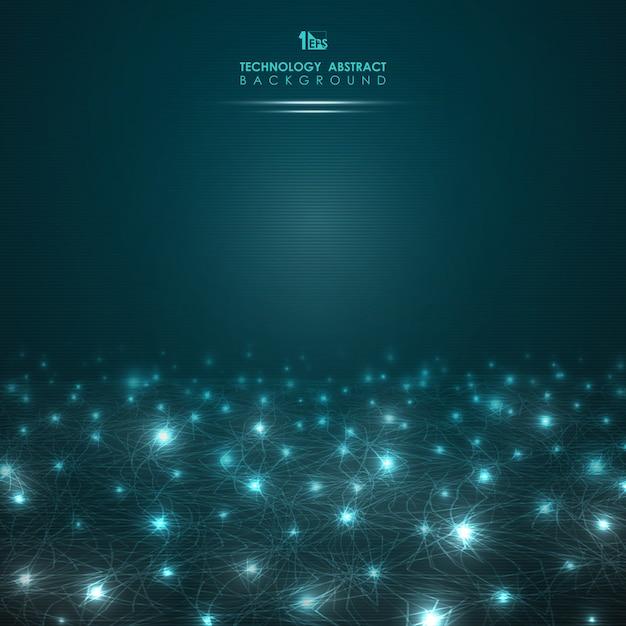 Pendenza futuristica dei punti di potere delle luci del fondo astratto Vettore Premium