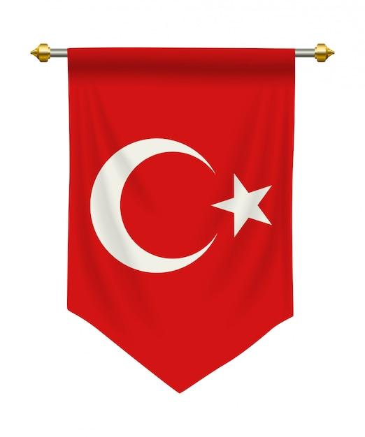 Pennant della turchia Vettore Premium
