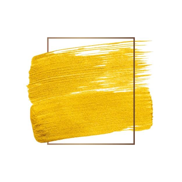 Pennellata d'oro Vettore gratuito