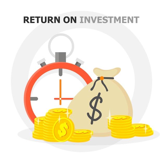 Performance finanziaria, rapporto statistico, aumentare la produttività aziendale, fondo comune, ritorno sull'investimento, consolidamento finanziario, pianificazione del budget, concetto di crescita del reddito, icona piatta vettoriale Vettore Premium
