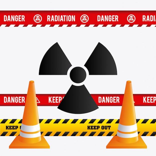 Pericolo design pubblicitario. Vettore gratuito