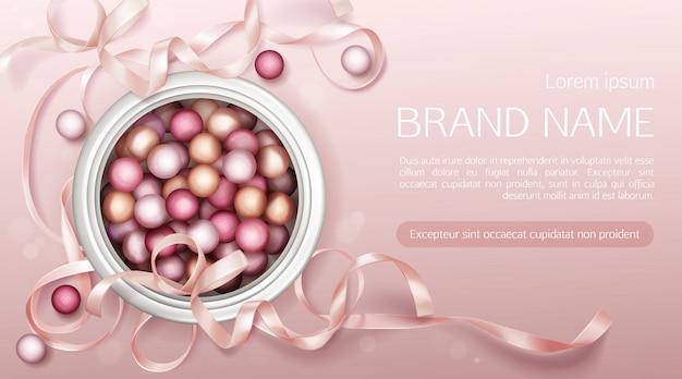 Perle cosmetiche con nastro Vettore gratuito
