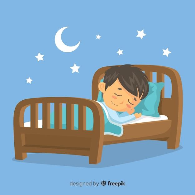 Persona che dorme Vettore gratuito
