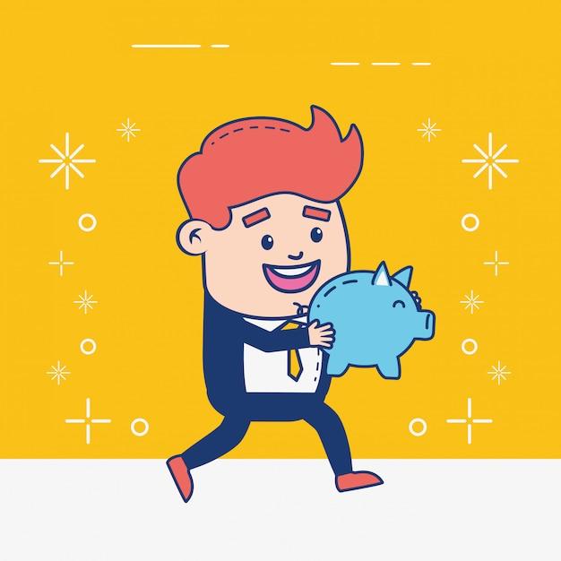 Persona di servizi bancari online Vettore gratuito