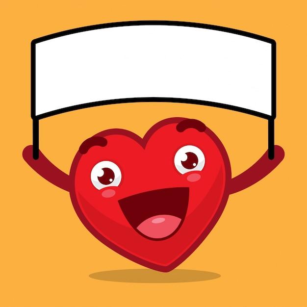 Personaggi dei cartoni animati del cuore che tiene segno