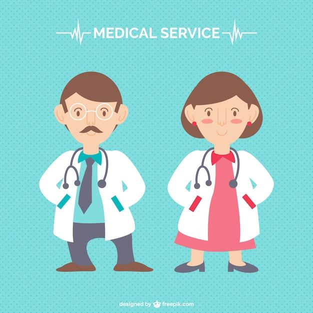 Personaggi dei cartoni animati medici Vettore gratuito
