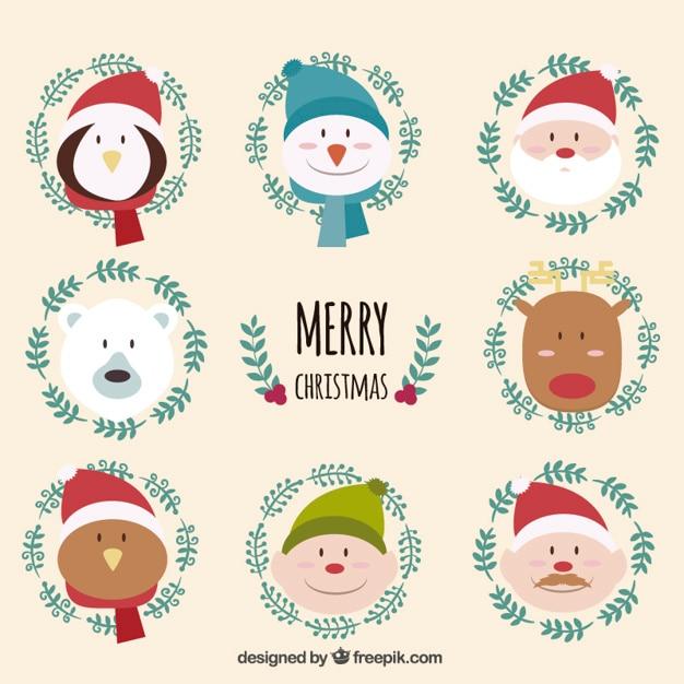 Estremamente Personaggi di Natale divertenti | Scaricare vettori gratis BM99
