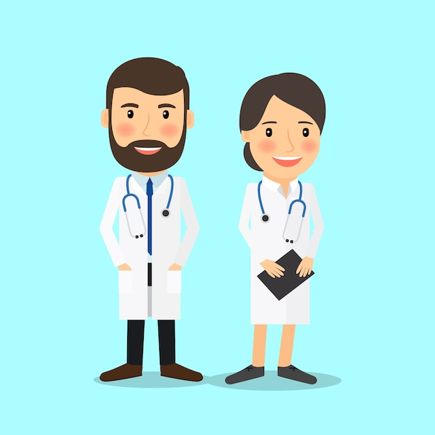 Personaggi medico Vettore Premium