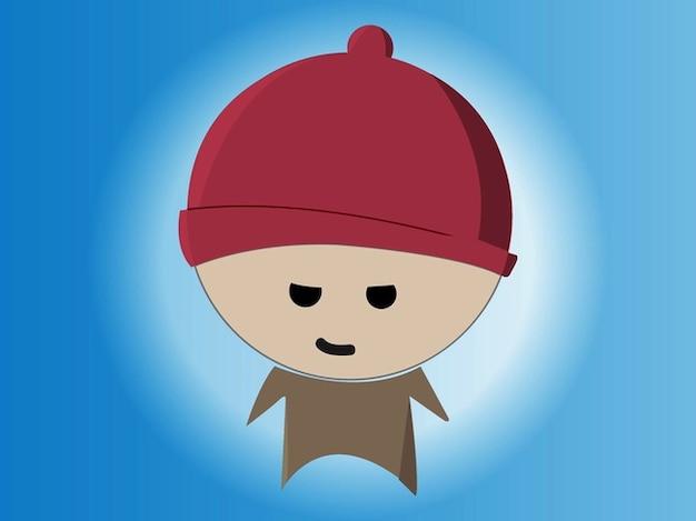 Personaggio dei cartoni animati con la grande testa